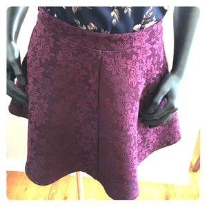 Maroon Floral skirt F21